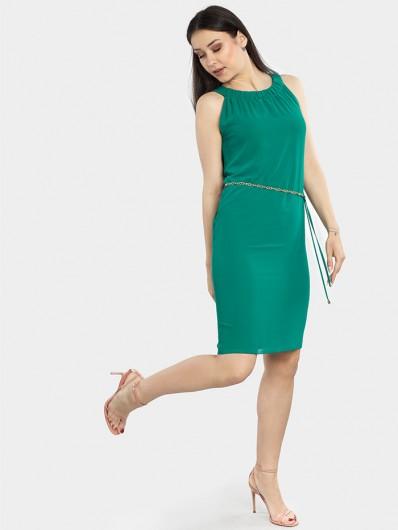 Idealna sukienka wizytowa na wiele okazji w zależności od dodatków zielona midi Bee Collection