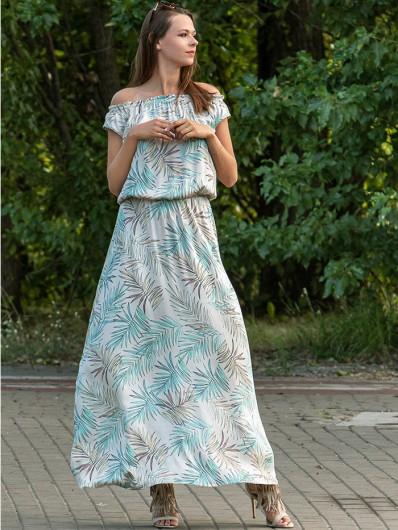 Sukienka maxi wizytowa hiszpanka z wiskozy Bee Collection  Jamajka