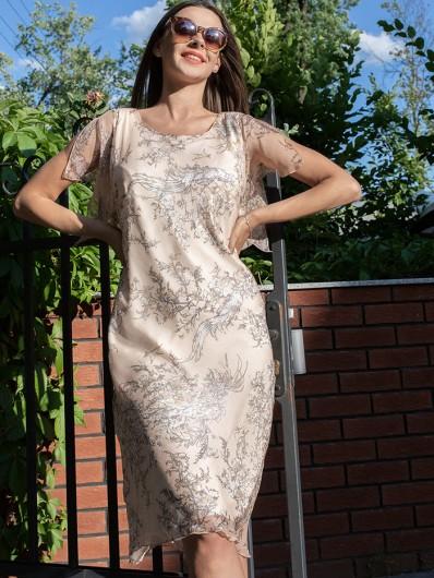 Sukienka z jedwabiu wiskozowego, wygodna i łatwa w stylizacji na plażę i wyjścia wieczorne Bee Collection