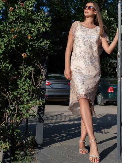 Letnia sukienka na wesele w plenerze, komunie, do biura, dres code czy spotkania biznesowe Bee Collection Ceptina