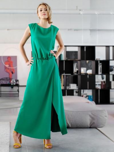 Luźna, tuszująca sukienka maxi, dla świadkowej i nowoczesnej mamy lub dla mamy chrzestnej dla gościa Bee Collection Paryżanka
