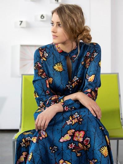 Sukienka koktajlowa, wizytowa, z długim rękawem , maxi Bee Collection Kinga