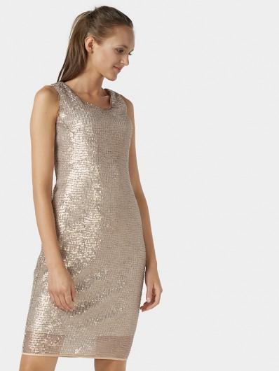 Sukienka z cekinów, ołówkowa, prosta, midi na wesele, studniówkę, gale, bankiety Bee Collection