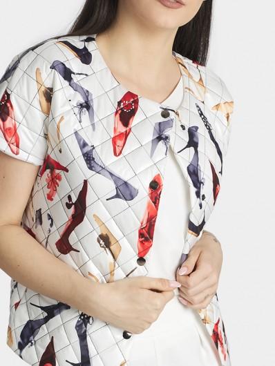 Elegancka i sportowa kamizelka z rękawkiem do spodni, sukienek, spódnic Bee Collection