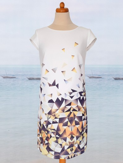 Sukienka o linii A doskonała na spotkania biznesowe, do pracy, przyjęcia rodzinne Bee Collection Ilona