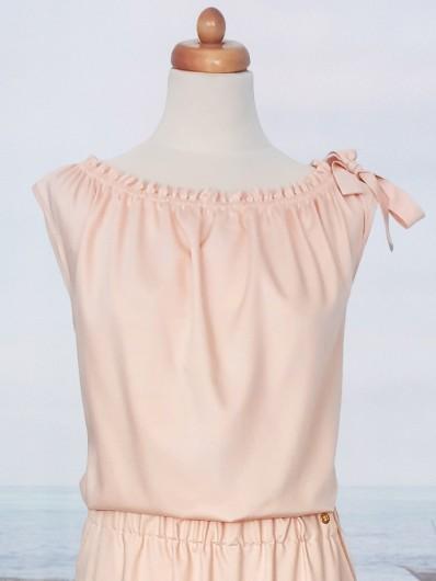 Sukienka hiszpanka z odkrytymi ramionami, długa z kieszeniami Bee Collection Etna