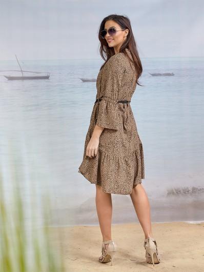 Niepowtarzalny krój i modny deseń w  ponadczasowej sukience Bee Collection Sahara