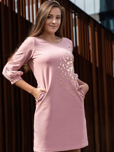 Modna wizytowa sukienka o swobodnym charakterze z szerszymi rękawami Bee Collection Ebbia
