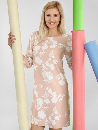 Elegancka sukienka z kolorze cielistym Bee Collection Sława