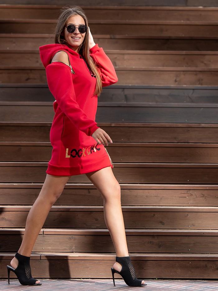 Czerwona sukienka i połączenie stylu casual z nowatorskim, nowoczesnym designem Bee Collection Transit