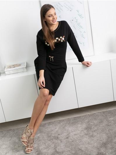 Elegancka a jednocześnie sportowa sukienka z rękawem, do kolan Bee Collection Albina