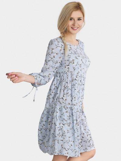Dziewczęca sukienka midi z rękawem w kwiaty Bee Collection Weronika
