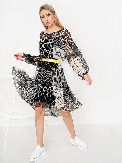 Lekka, kobieca sukienka z szyfonu do sportowych i wizytowych stylizacji Bee Collection Zephire