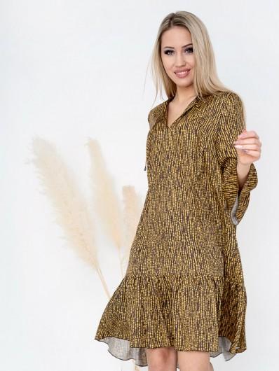 Tuszująca sukienka na co dzień, do pracy na wyjazdy wakacyjne z rękawem midi Bee Collection Sahara