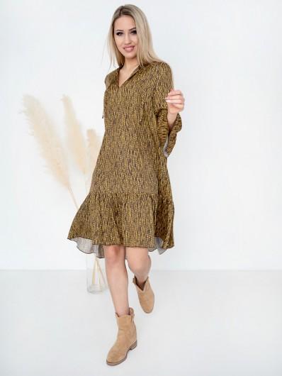 Dziewczęca modna sukienka z wiskozy, sukienka letnia na przyjęcia ogrodowe, do pracy, świetna na luzie Bee Collection