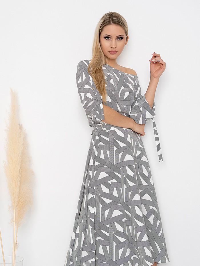Tuszująca sukienka elegancka a jednocześnie niezobowiązująca, z długim rękawem, długa do kostek Bee Collection MUSIC