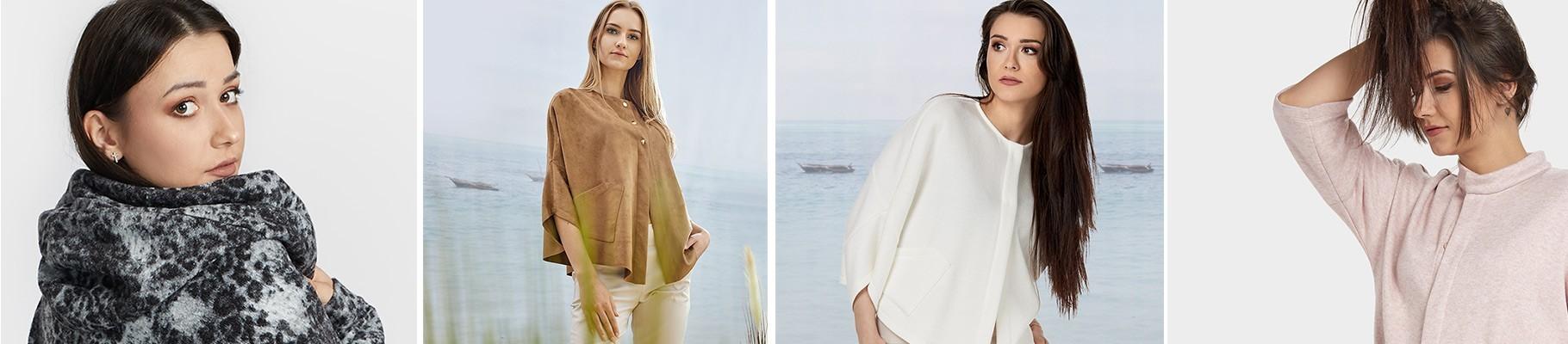Producent swetrów i kardiganów oferuje modne fasony z doskonałych jakościowo tkanin i dzianin, sweterki gładkie i drukowane, z golfem i kapturem, kardigany oversizowe, luźne eleganckie i nowoczesne - Swetry kardigany Bee Collection